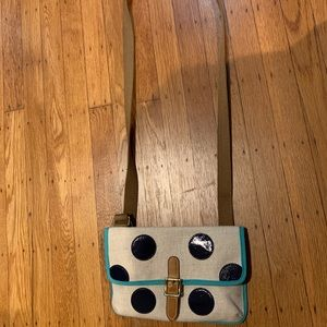 Fossil Polka Dot Crossbody Purse